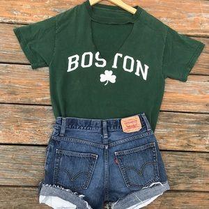 Vintage Boston cut out tee
